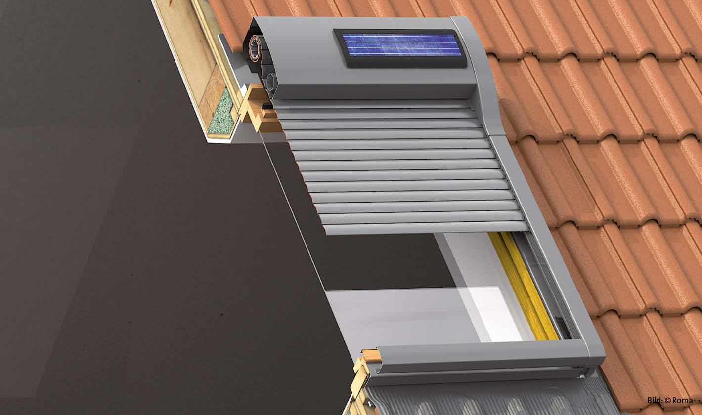 dachfensterrollladen, perfekter hitzeschutz für velux, roto & co